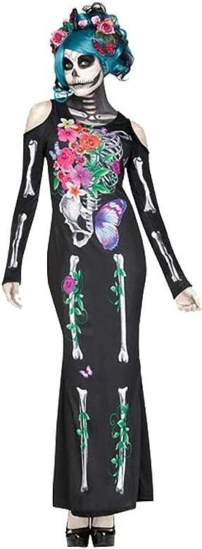 Lecoyeee Disfraz Día de los Muertos Mujer Mono Esqueleto ...