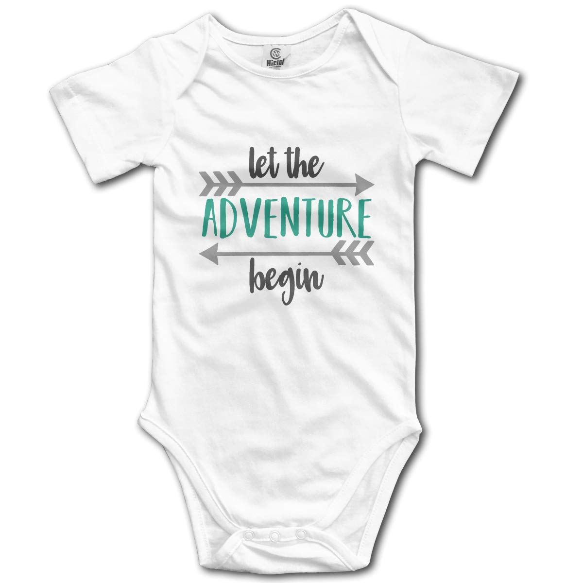 gregezrg New Let New Adventure Begin Cotton Infant Bodysuit Playsuit Union Suit Baby Short-Sleeve Bodysuit