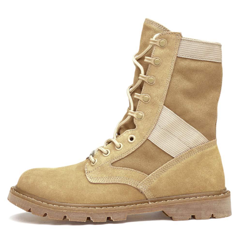 Botas Martin De Cuero Real Botas De Cuero De Desierto Botas De Desierto Botas Militares De Combate De Combate Botas Para Caminar Zapatos Para Caminar Zapatos De Entrenamiento 44|Beige