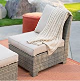Coral Coast South Isle All Weather Wicker Natural Middle Armless Chair