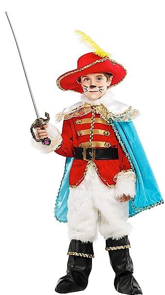Disfraz EL Gato con Botas Vestido Fiesta de Carnaval Fancy Dress ...