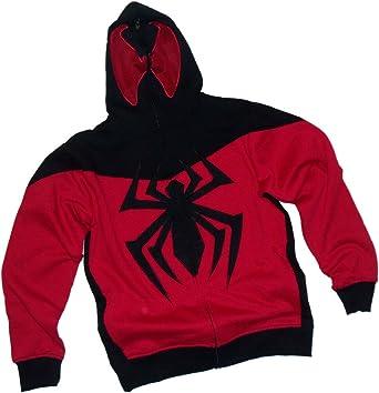 amazon com scarlet spider man costume marvel hoodie zipper