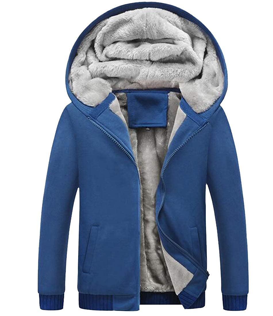 Pandapang Mens Fashion Big and Tall Zip Up Jacket Fleece Hoodie Sweatshirts