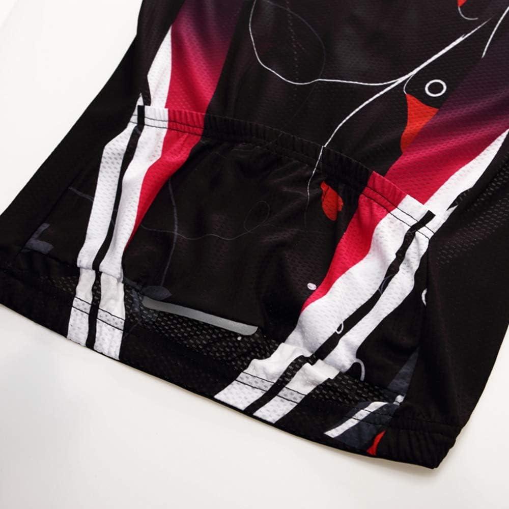 kurze /Ärmel Mountainbike Fahrradtrikot f/ür Damen Sommer-Shirt Etikett XXL//Brust: 97//102 cm schnell trocknend Profi-Team