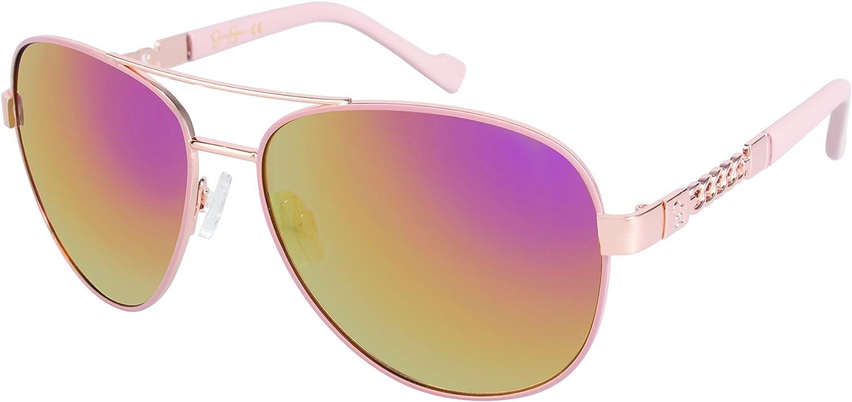 JESSICA SIMPSON Iridium Aviato Designer Signature Sunglasses w// Spring Hinges