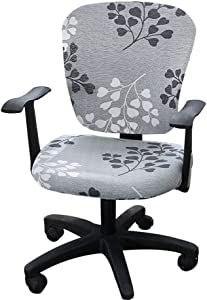 Jinzio Computer Office Chair Cover - Split Protective & Stretchable Cloth Polyester Universal Desk Task Chair Chair Covers Stretch Rotating Chair Slipcover (Universal, Style 30)
