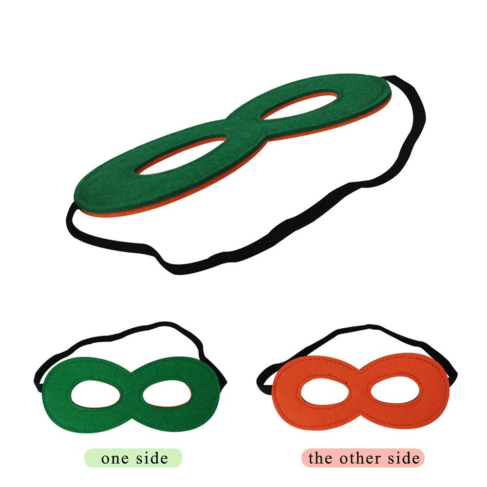 df38547fddd4 Amazon.com   Felt Superhero Masks for Kids Bulk Reversible Dual Color--Boys  Girls Eye Masks Dress Up Birthday Party Supplies   Sports   Outdoors