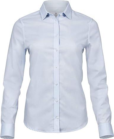 Tee Jays - Camisa elástica de popelín de Manga Larga Luxury para Mujer señora: Amazon.es: Ropa y accesorios