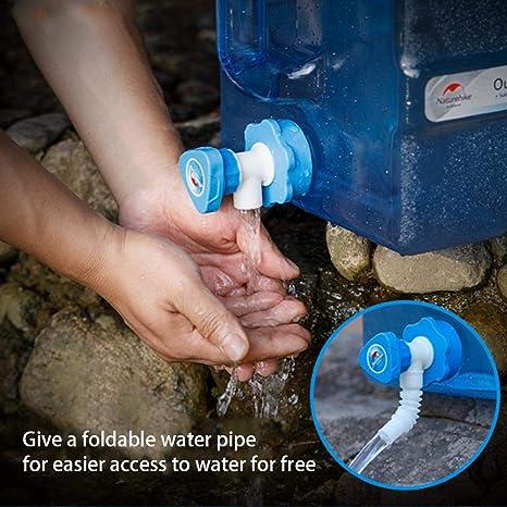 Oshide 12 / 19L Cubo de Agua portátil Que acampa contenedor de Agua con Grifo lavador