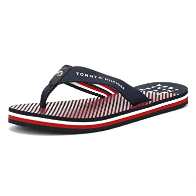 486c6af05 Tommy Hilfiger Essential Stripe Beach Sandal - Midnight (Navy) Womens  Sandals 37 EU