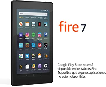 Tablet Fire 7, Reacondicionado certificado, Pantalla de 7'', 32 GB, Negro