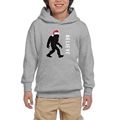 Amazon.com: Buringd Christmas Bigfoot With Santa Hat Unisex Youth ...