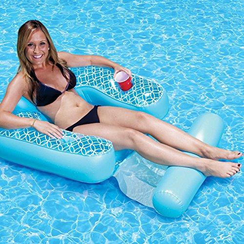 Poolmaster 70741 Inflatable Floating Shangri-la Chair & Footrest Pool Lake Pond by Floats & Rafts