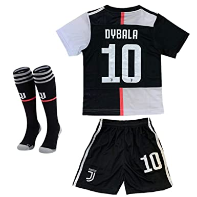 size 40 92445 e7869 2019-2020 Season Juventus #10 Dybala Kids Or Youth Home Soccer Jersey &  Shorts & Socks Black/White