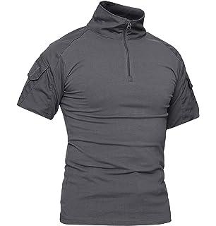 Camiseta t/áctica para hombre cremallera 1//4, con 2 bolsillos TACVASEN
