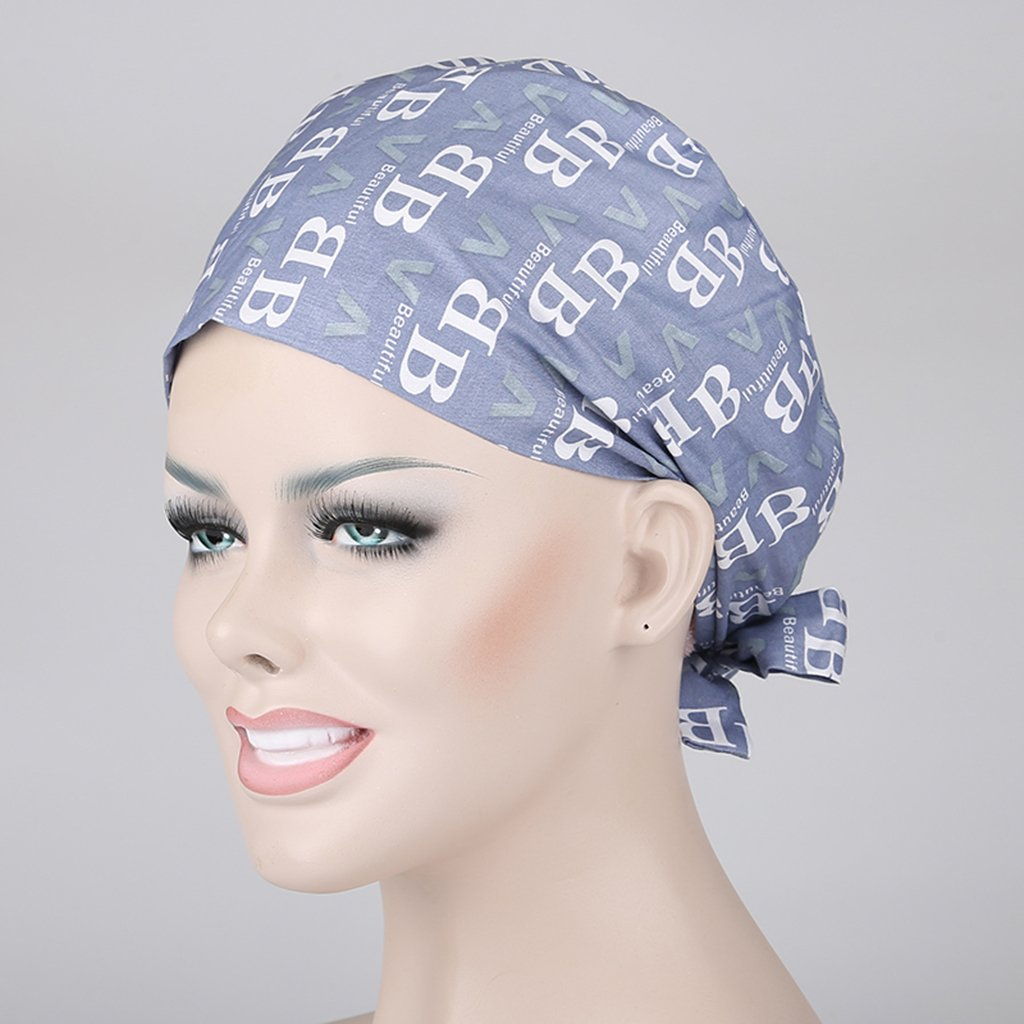 perfk Donna Infermieri Medico Cappello Pizzo Cappellini da Chirurgico Cap