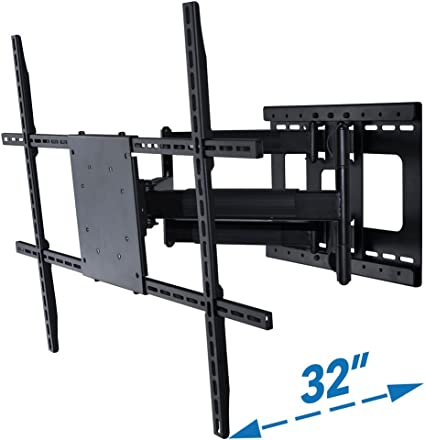 "Articulating Full Motion TV Wall Mount 15°Tilt 160°Swivel For 55/""60/""65/""70/""75/""80/"""