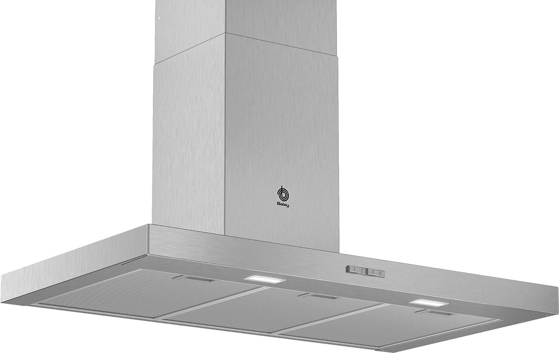 Balay 3BC094MX Campana decorativa diseño rectangular, 330 m³/h, Acero inoxidable: 184.57: Amazon.es: Grandes electrodomésticos