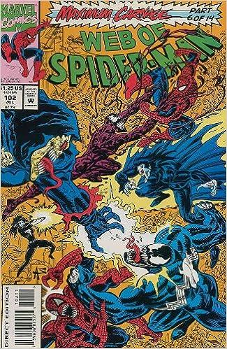 Amazon Com Web Of Spider Man 102 July 1993 Maximum Carnage Part 6