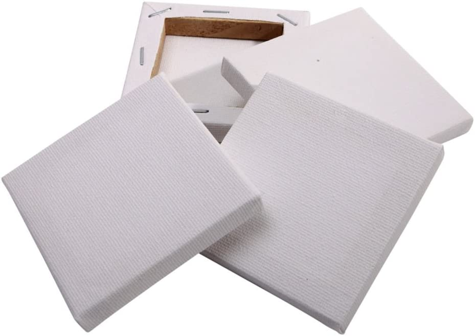 Square Small Art Board for Oil Paint Blank 5x7cm Stretched Canvas Boards N//A 10Pack Mini Canvas Panel