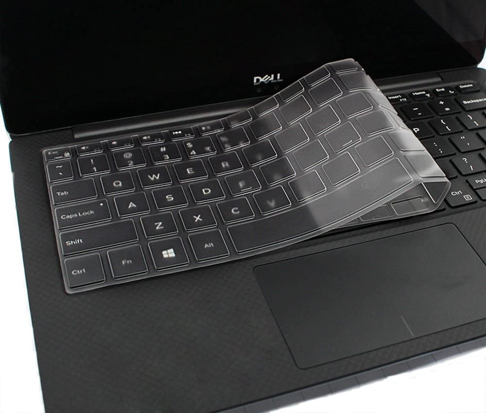 Clear Keyboard Cover Skin Protector Guard for Dell XPS 13 Model 9370 (2018 Released) & 13.3 inch Dell 2 in 1 Ultrabook Laptop Model 9365 (2017 Released) (Transparent)