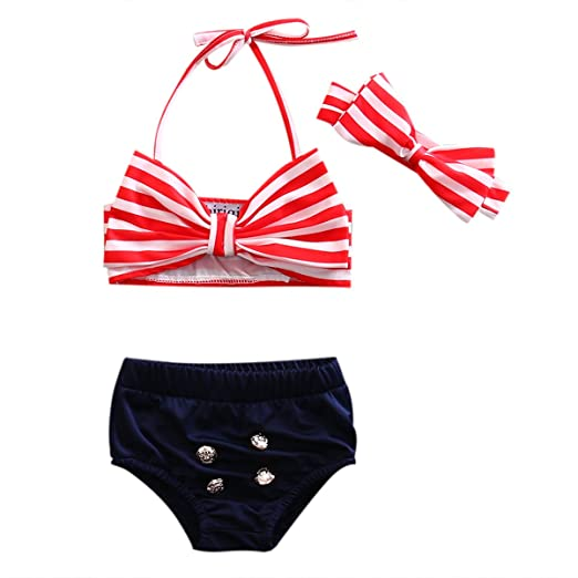 ea516f921d Baby Girls Swimsuit Mom&Baby Parent-Child Family Matching Bikini Set 2Pcs  Strap Stripe Top+Shorts