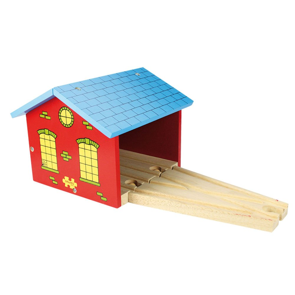 Bigjigs Rail Double Engine Shed - Other Major Wooden Rail Brands are Compatible Bigjigs Toys BJT123