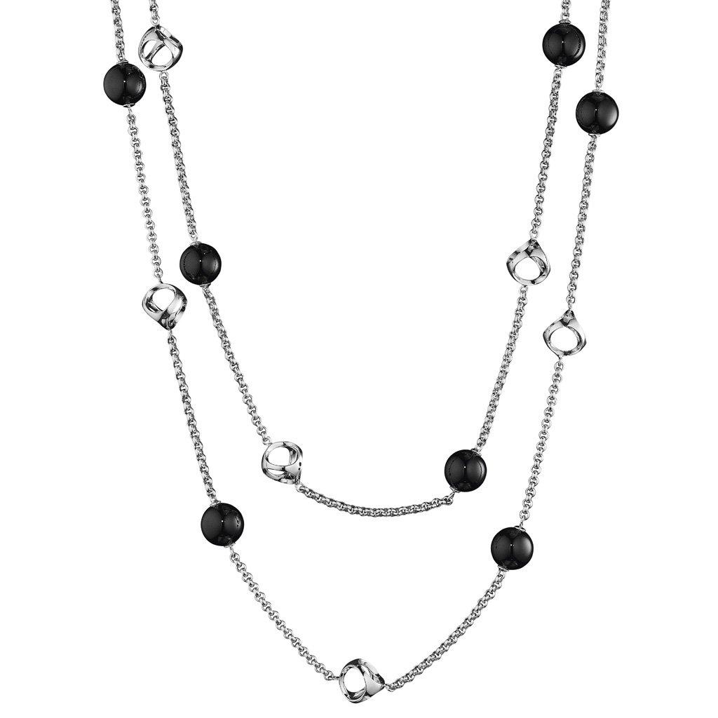 Di MODOLO Icona Black Onyx 42'' Necklace in Sterling Silver