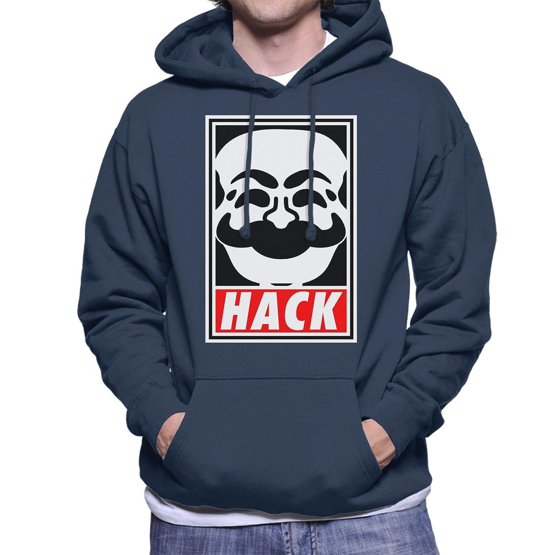 Hack Society Mr Robot Obey Men's Hooded Sweatshirt