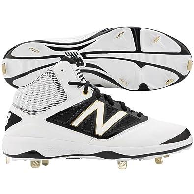 check out 9236b b95b3 Amazon.com   New Balance Midcut 4040v3 Mens Cushioning Metal Baseball Cleat    Baseball   Softball