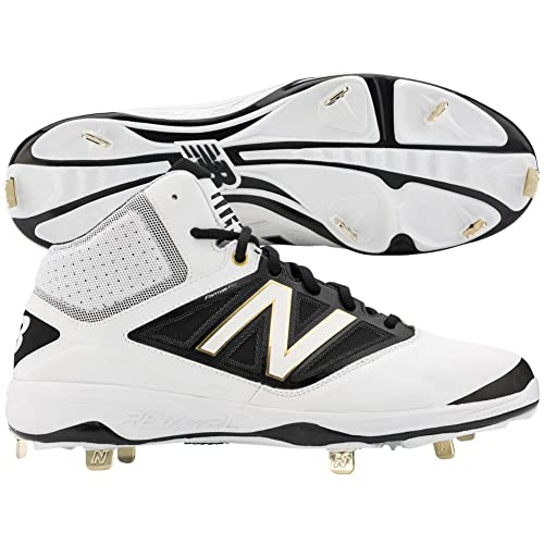 huge selection of 5e594 56422 New Balance - Zapatillas de béisbol de Piel para Hombre Blanco Blanco Negro,  Color Blanco, Talla 10,5  Amazon.es  Zapatos y complementos