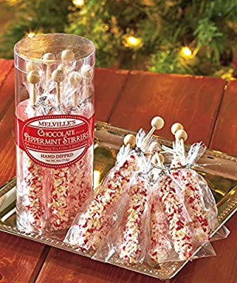 Chocolate Peppermint Hand-Dipped Gourmet Stirrers