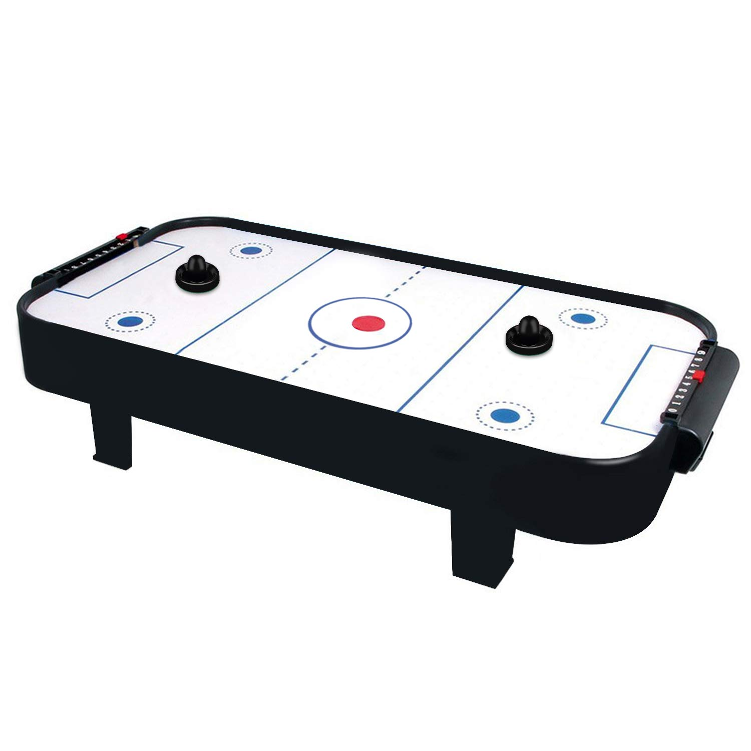 ONE250 Air Hockey Pushers and Red Air Hockey Pucks 4 Striker, 4 Puck Pack Goal Handles Paddles Replacement Accessories for Game Tables