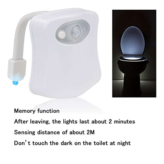 Sensor luz inodoro - Idealeben multicolor automática sensor de movimiento para WC LED de la nocturna (8 colores): Amazon.es: Bricolaje y herramientas