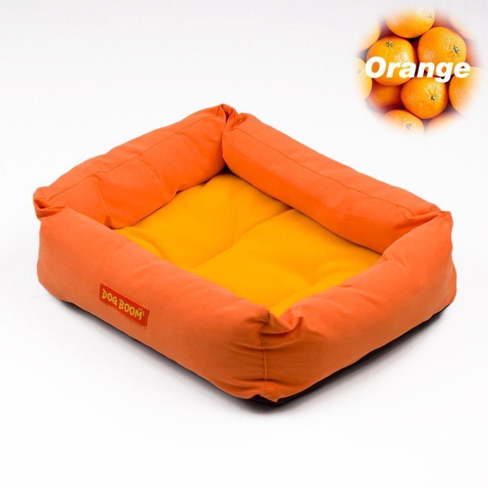 D 574614cm D 574614cm WUTOLUO Pet Bolster Dog Bed Comfort Kennel Pet Litters Mat (color   D, Size   57  46  14cm)