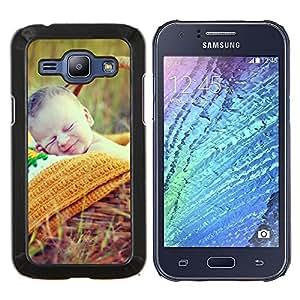 Stuss Case / Funda Carcasa protectora - Naturaleza lindo picnic de primavera Madre - Samsung Galaxy J1 J100