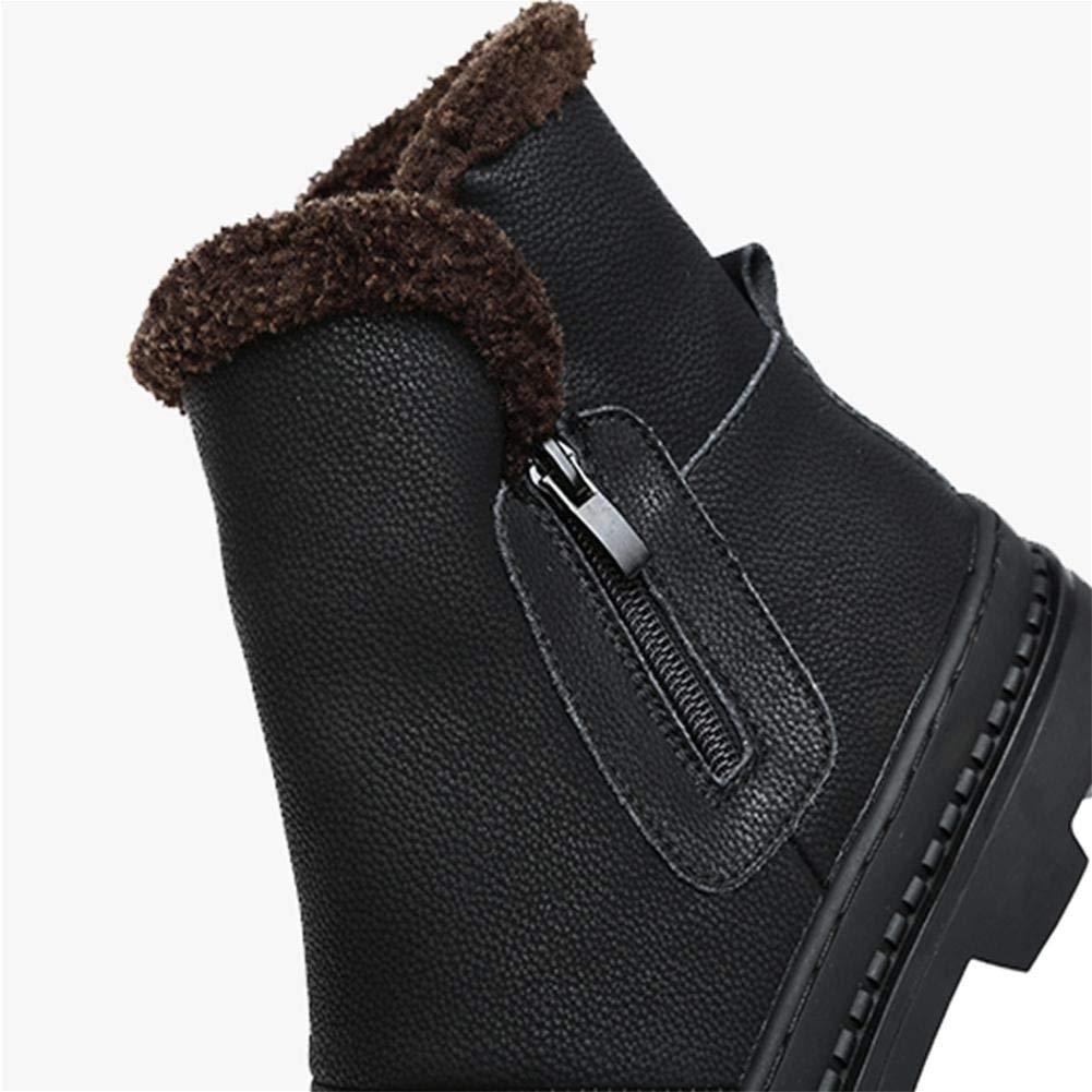Schnee Stiefel männlichen Winter warme warme warme Plüsch Dicke Wasserdichte Rutschfeste Herren Baumwolle Schuhe (Farbe   Schwarz, Größe   EU 40) f075c3