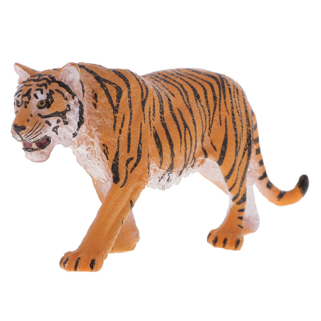 MagiDeal Realistic Wild Animal Siberian Tiger Model Figure Figurine Kids Educational Toy Children Gifts Yellow
