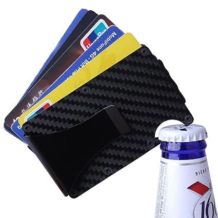 Novadeal Mini Slim - Monedero de fibra de carbono, diseño de ...