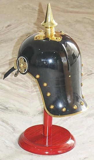 Shiv Shakti Enterprice WWI&II casco alemán prusiano, casco de latón: Amazon.es: Hogar