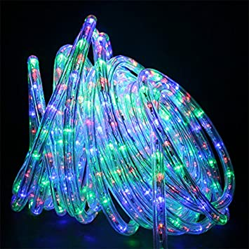 Amazon direct lighting 50ft super bright heavy duty multi color direct lighting 50ft super bright heavy duty multi color rope lights with 600 leds aloadofball Gallery