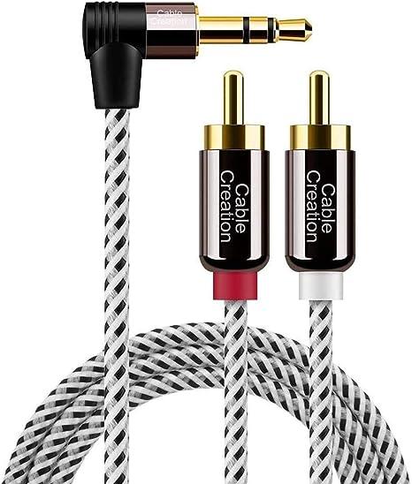 Cablecreation Cinch Kabel Winkel 3 5mm Klinke Auf 2 X Computer Zubehör