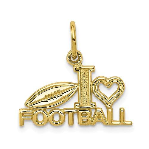 Abalorio de oro amarillo de 10 K con diseño de balón de fútbol ...