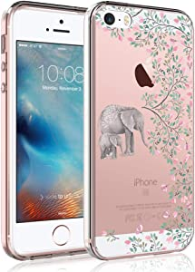 SYONER Clear Phone Case Cover for Apple iPhone 5 / iPhone 5S / iPhone SE 2016 [Elephant]