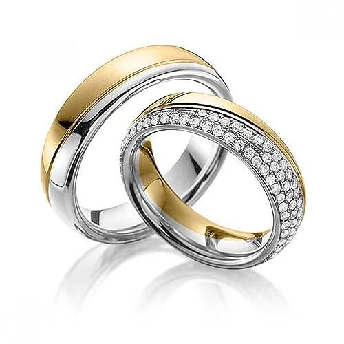 e231609be8aa alianzas Partner anillos de compromiso Anillos Trau Amistad Anillos de  titanio con circonitas Laser grabado