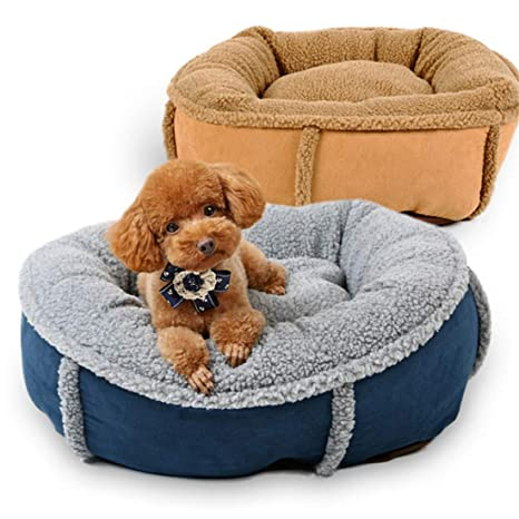 TRE Calentar Cachemir De Cordero Perrera Forma De Calabaza Sofá para Perros Cama De Perro Desmontable