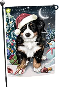 Doggie of the Day Have a Holly Jolly Christmas Happy Holidays Bernese Mountain Dog Garden Flag FLG257
