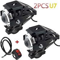 2 unidades 1 faro de moto aditional LED
