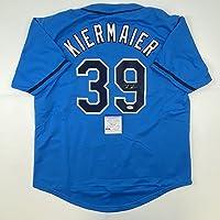 $99 » Autographed/Signed Kevin Kiermaier Tampa Bay Light Blue Baseball Jersey PSA/DNA COA