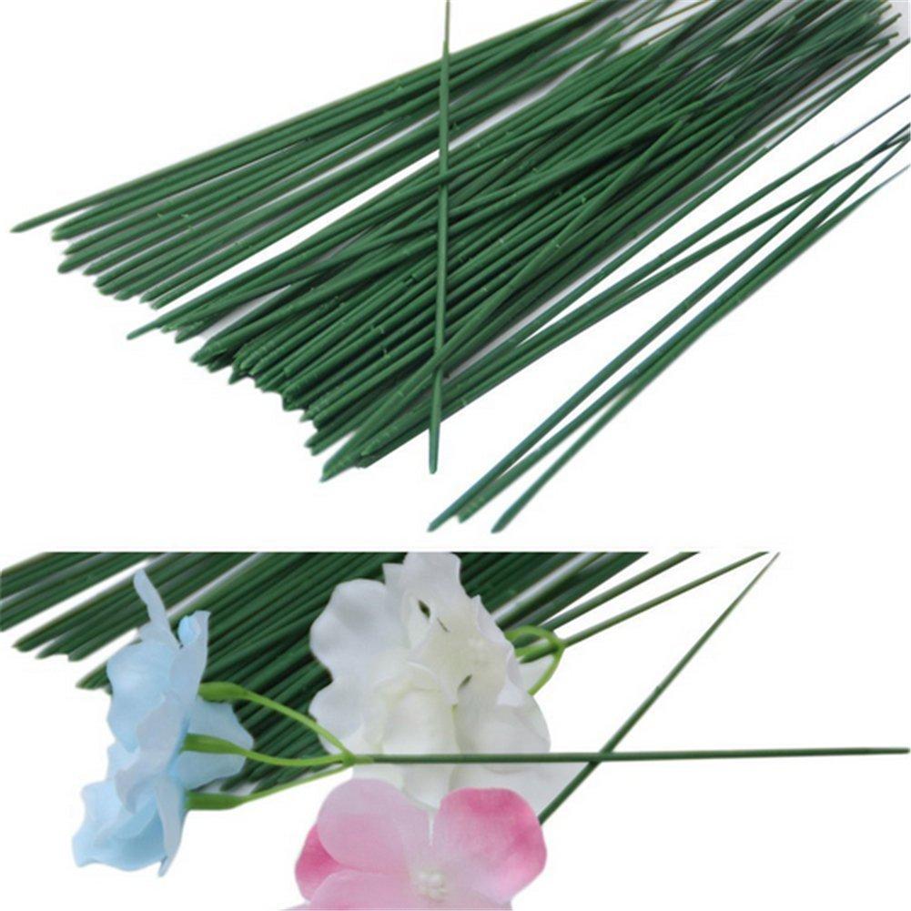 50X Milopon Pflanzst/ützen Blumenstab Metall Pflanzen Rankstange Rankstab 40cm dunkelgr/ün